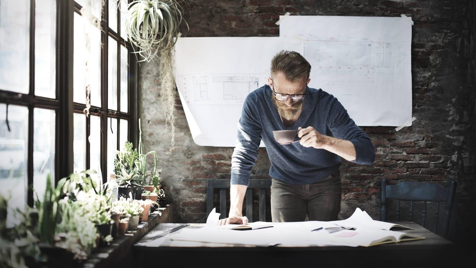 man2 - Architect Engineer Design Working Planning Concept